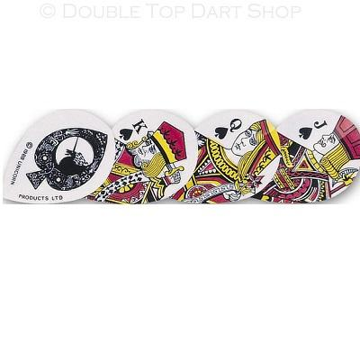 Unicorn Core 75 Pear Royal Flush Cards Shape Dart Flights