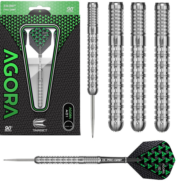 Agora A01 90% Tungsten Steel Tip Darts by Target