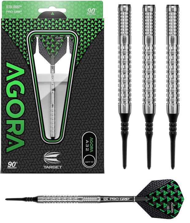 Agora A32 90% Tungsten Soft Tip Darts by Target
