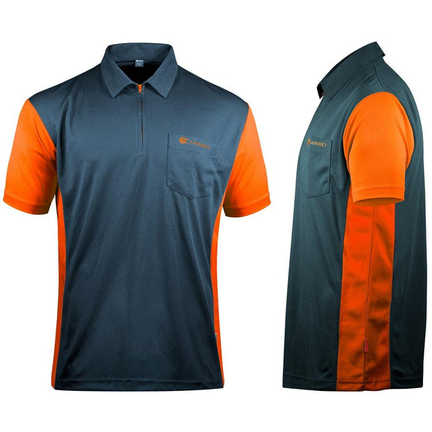 Target Cool Play 3 Steel Blue and Orange Breathable Dart Shirt / Shirts