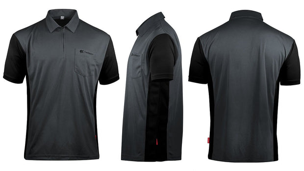 Hybrid 3 Grey / Black Cool Play Breathable Dart Shirt / Shirts by Target