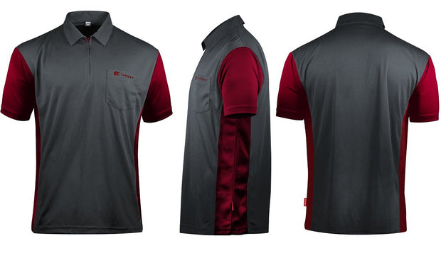 Hybrid 3 Grey / Ruby Red  Cool Play Breathable Dart Shirt / Shirts by Target