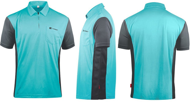 Hybrid 3 Sky Blue / Grey Cool Play Breathable Dart Shirt / Shirts by Target