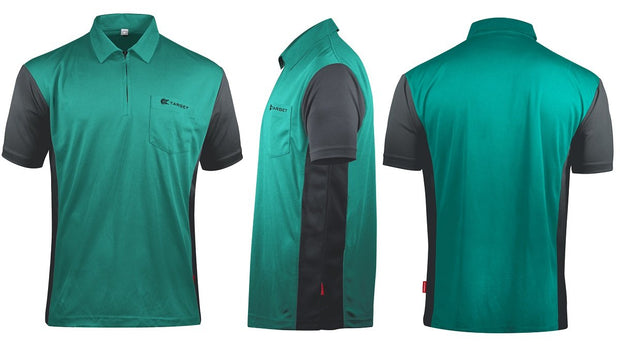 Hybrid 3 Turquoise / Grey Cool Play Breathable Dart Shirt / Shirts by Target