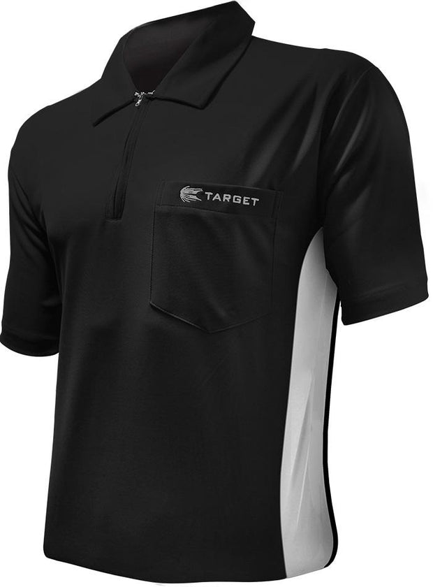 Target Hybrid Black / White Cool Play Breathable Dart Shirt / Shirts
