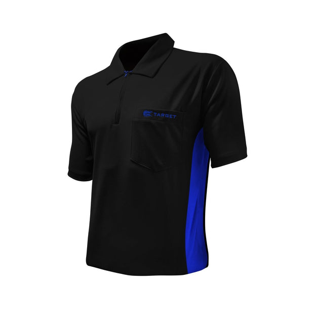 Target Hybrid Black / Blue Cool Play Breathable Dart Shirt / Shirts