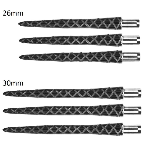 Target Fire Storm Diamond Cut Black Replacement Dart Points