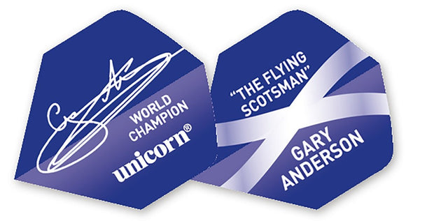 Unicorn Authentic 100 Gary Anderson Signature Big Wing Dart Flights