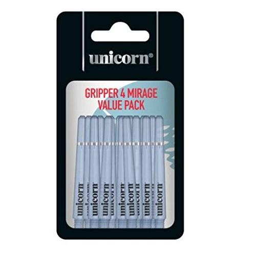 Unicorn Gripper 4 Mirage Blue Value Pack Ring Grip Dart Stems / Shafts