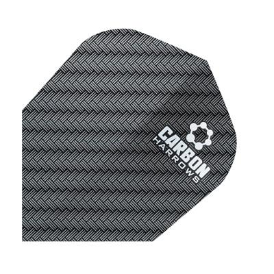 Harrows Carbon Dart Flights Extra Strong 100 Micron [1200, Black]