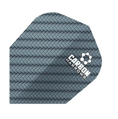 Harrows Carbon Dart Flights Extra Strong 100 Micron [1202, Blue]
