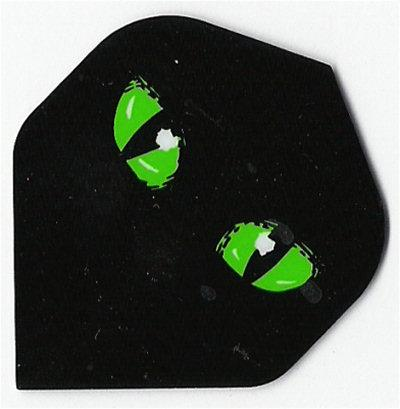 Metronic Green Cats Eyes Dart Flights (MC1253)