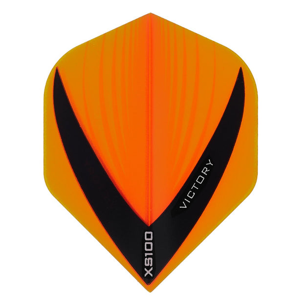 Victory Darts XS100 Vista Orange Extra Strong Dart Flights