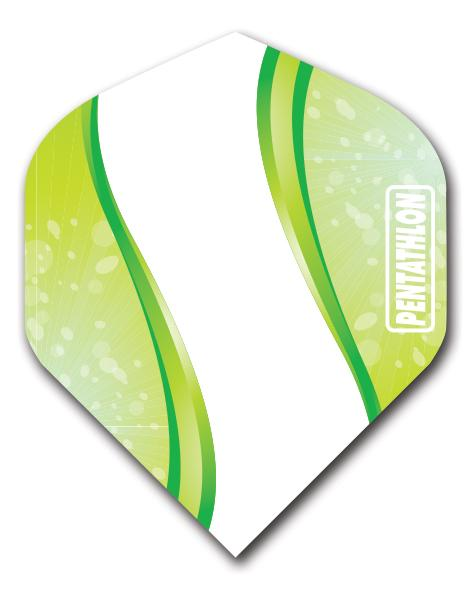 Pentathlon 100 Micron Curve Green Dart Flights