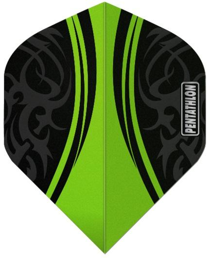Pentathlon Centre Green 100 Micron Dart Flights