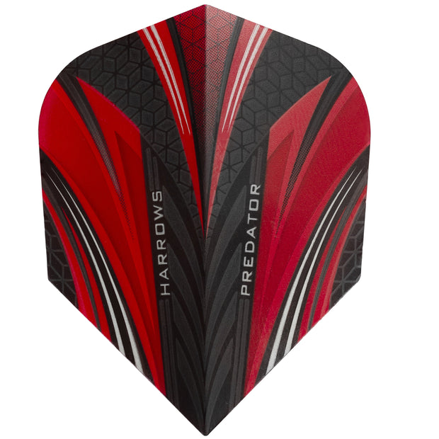 Harrows Predator Red Standard Dart Flights