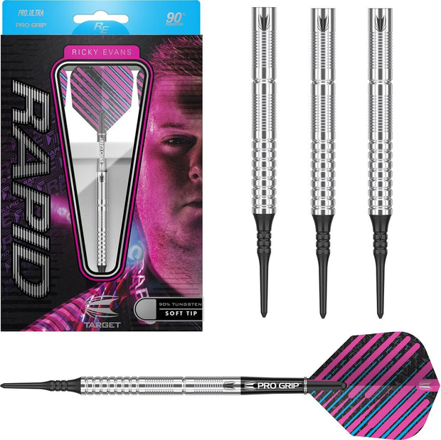 Ricky Evans 90% Tungsten Soft Tip Darts by Target