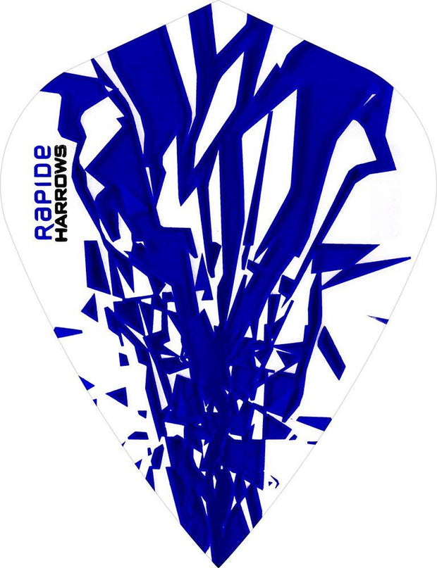Harrows Rapide Kite Blue on White Dart Flights