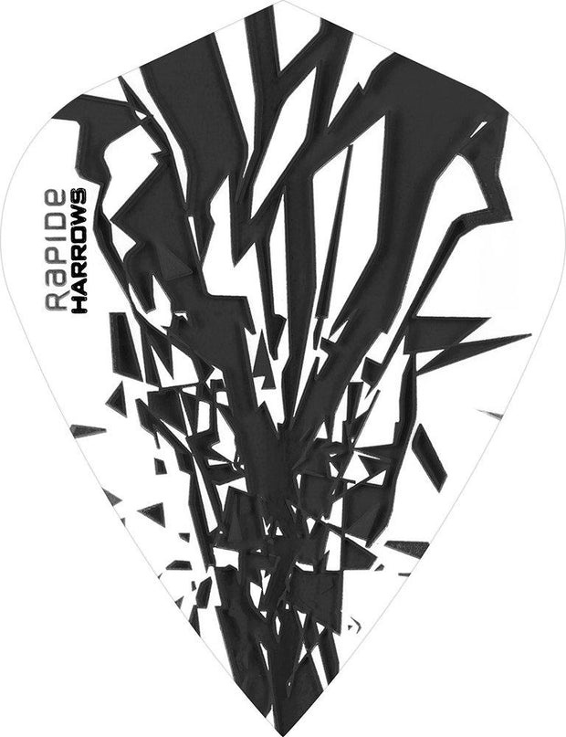 Harrows Rapide  Kite Smokey on White Dart Flights