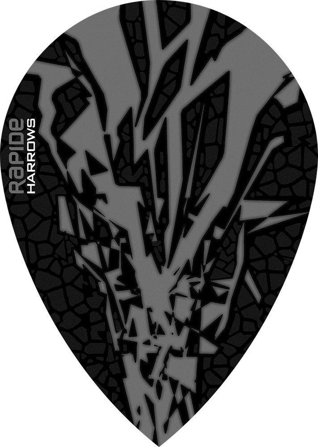 Harrows Rapide Pear Smokey on Black Dart Flights