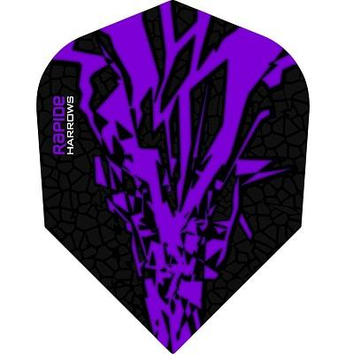 Harrows Rapide-X Purple on Black Dart Flights