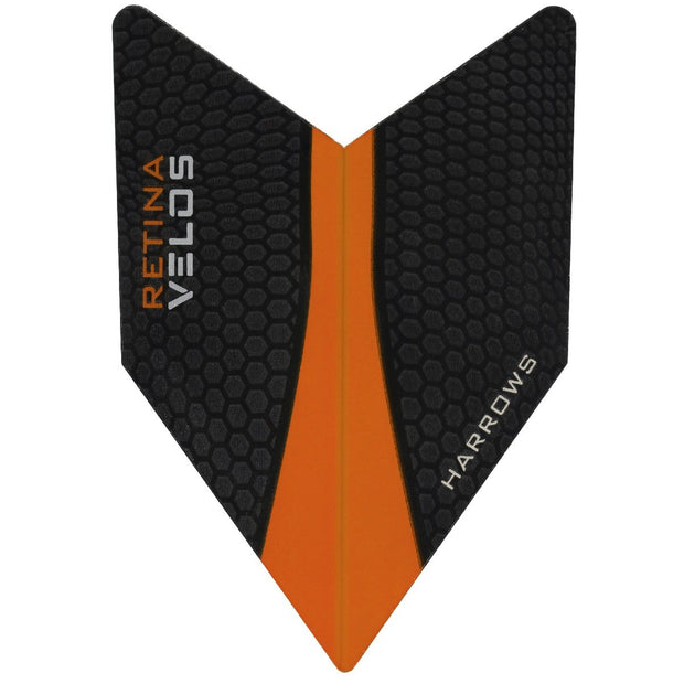 Harrows Velos Retina Orange Dart Flights