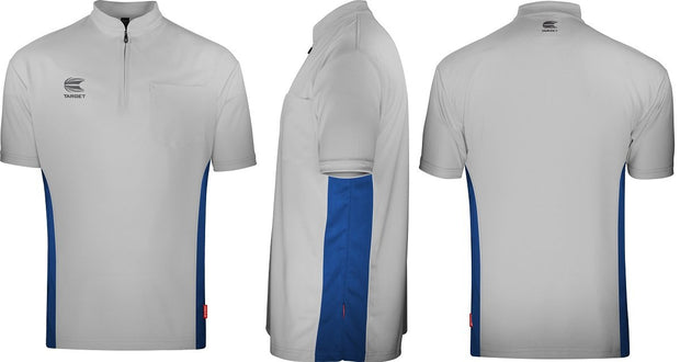 Target Cool Play Collarless Light Grey and Blue Breathable Dart Shirt / Shirts