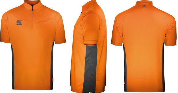 Target Cool Play Collarless Orange and Dark Grey Breathable Dart Shirt / Shirts