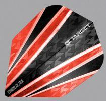 Pro 100 Vision Ultra Clear Red 4 Sail Dart Flights