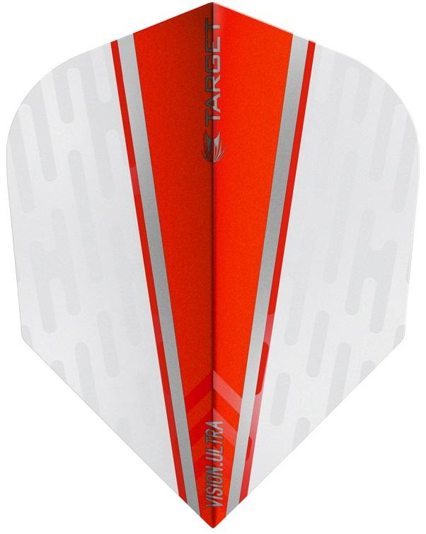 Target Pro 100 Vision Ultra White Wing Red Fin Dart Flights