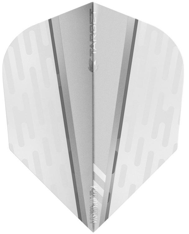 Target Pro 100 Vision Ultra White Wing Clear Fin Dart Flights