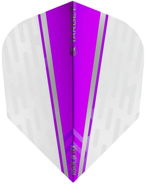 Target Pro 100 Vision Ultra White Wing Purple Fin Dart Flights
