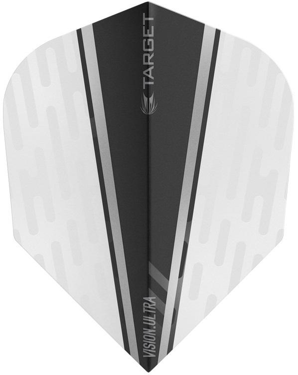 Target Pro 100 Vision Ultra White Wing Black Fin Dart Flights