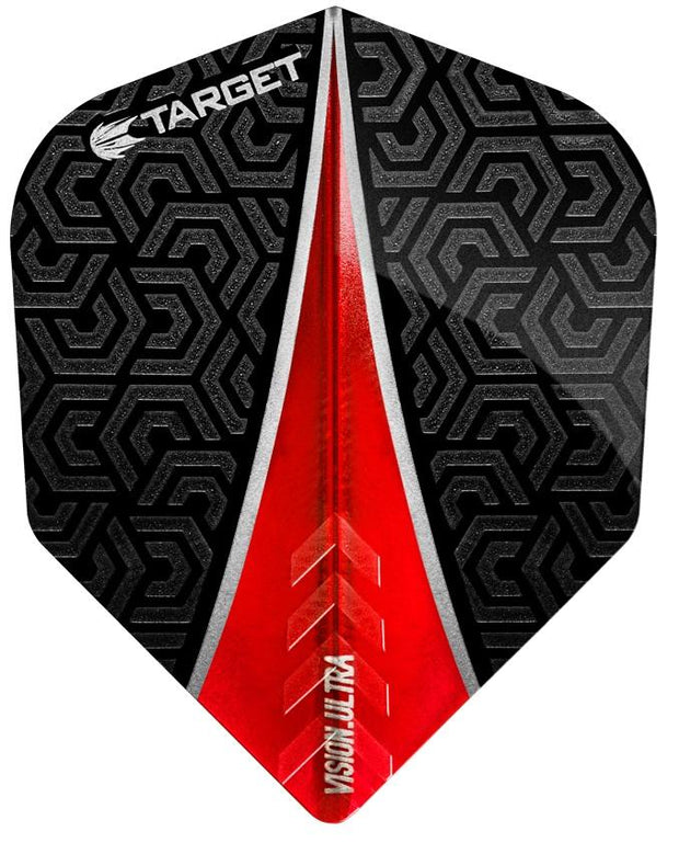 Target Pro 100 Vision Ultra Red Fin Dart Flights