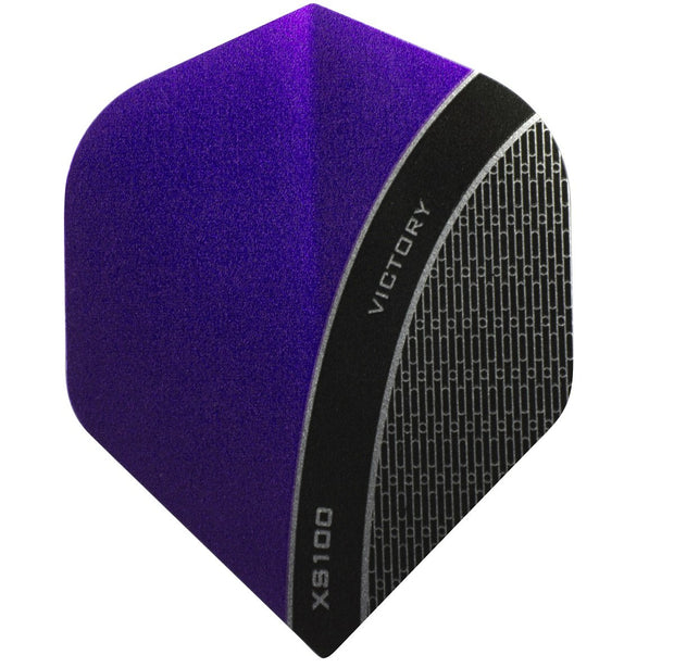 Victory Darts XS100 Curve Purple Extra Strong Dart Flights