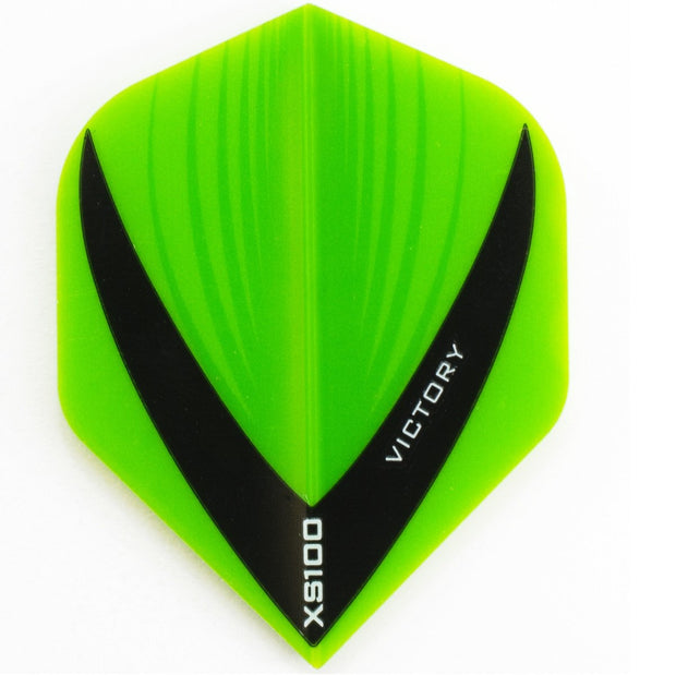 Victory Darts XS100 Vista Green Extra Strong Dart Flights