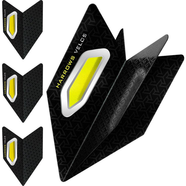 Harrows Velos Yellow Dart Flights