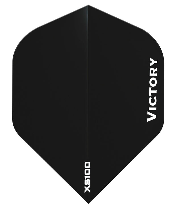 Victory Darts XS100 Colours Black Extra Strong Dart Flights
