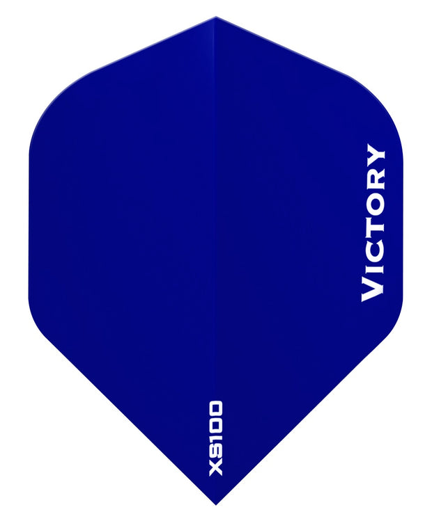 100 Sets Victory Darts XS100 Colours Blue Extra Strong Dart Flights
