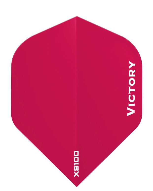 100 Sets Victory Darts XS100 Colours Dark Pink Extra Strong Dart Flights