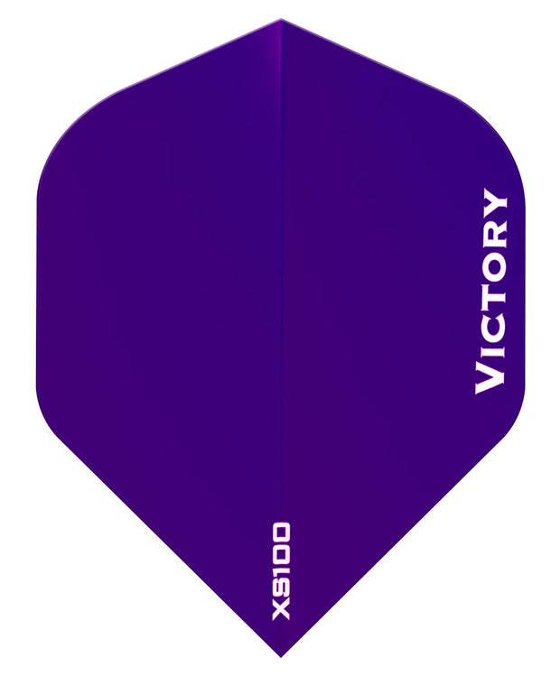 100 Sets Victory Darts XS100 Colours Purple Extra Strong Dart Flights