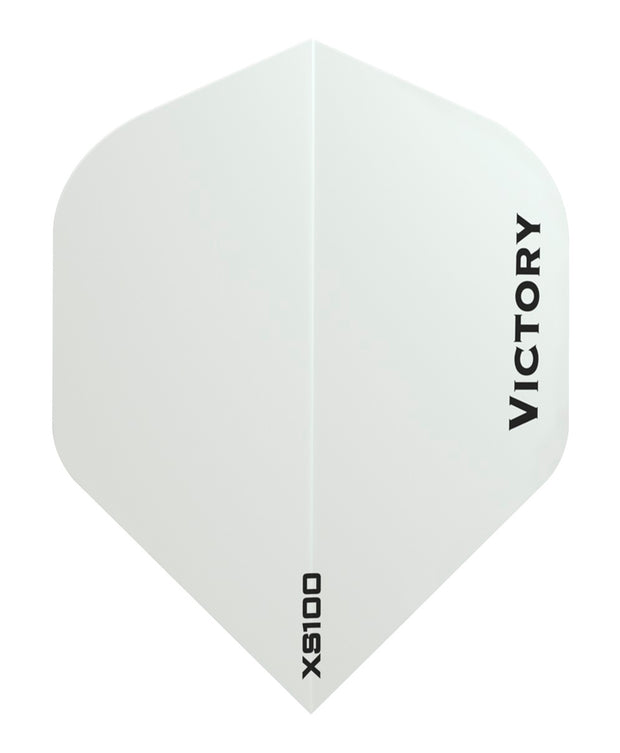 Victory Darts XS100 Colours White Extra Strong Dart Flights