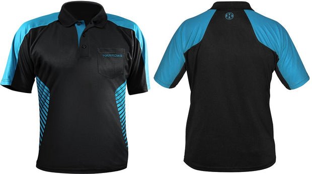 Harrows Vivid Aqua and Black Dart Shirt / Shirts