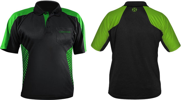 Harrows Vivid Green and Black Dart Shirt / Shirts