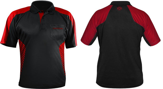 Harrows Vivid Fire Red and Black Dart Shirt / Shirts