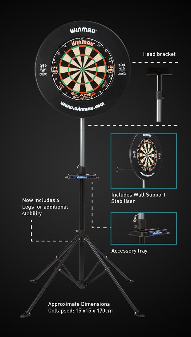 Winmau Xtreme 2 Portable Dartboard Stand (Stand Only)