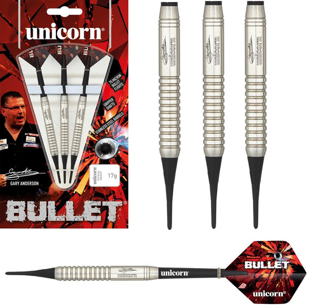 Unicorn Gary Anderson Style 2 Bullet Stainless Steel, Soft Tip Darts
