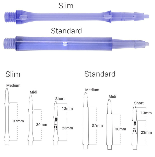 Harrows CLIC Blue System Dart Stems / Shafts