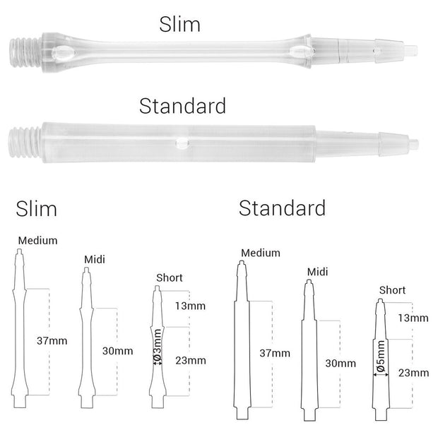 Harrows CLIC Clear System Dart Stems / Shafts
