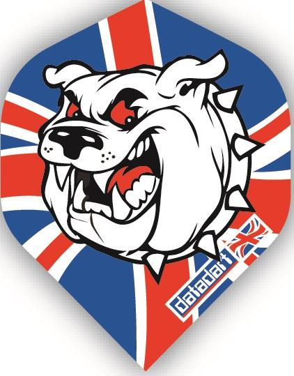 Datadart Bull Dog Union Jack 100 Micron CMF Dart Flights